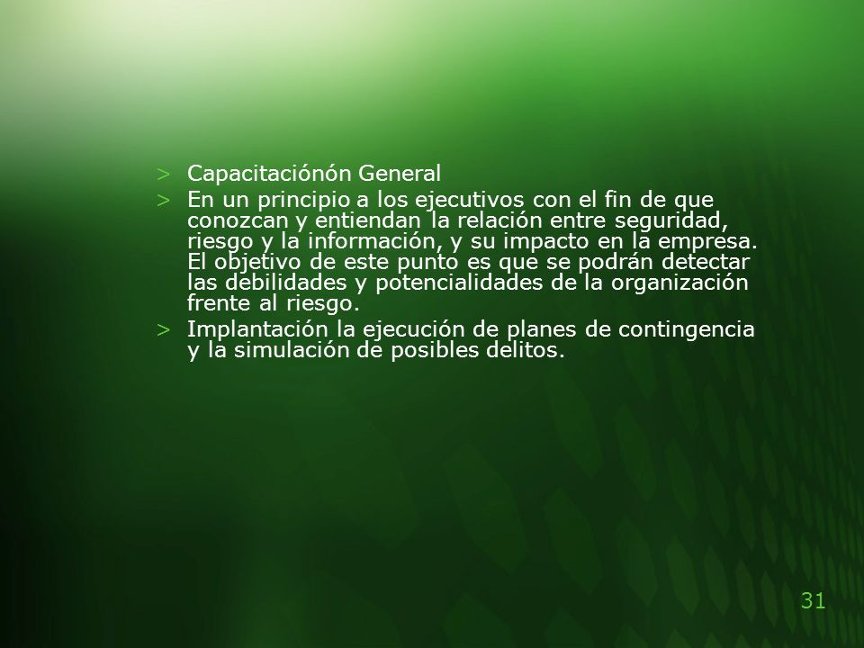 Capacitaciónón General