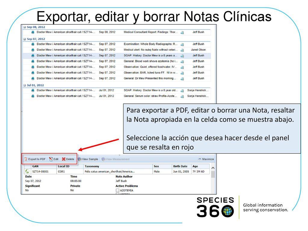 Creando Notas clínicas en ZIMS R2 - ppt descargar