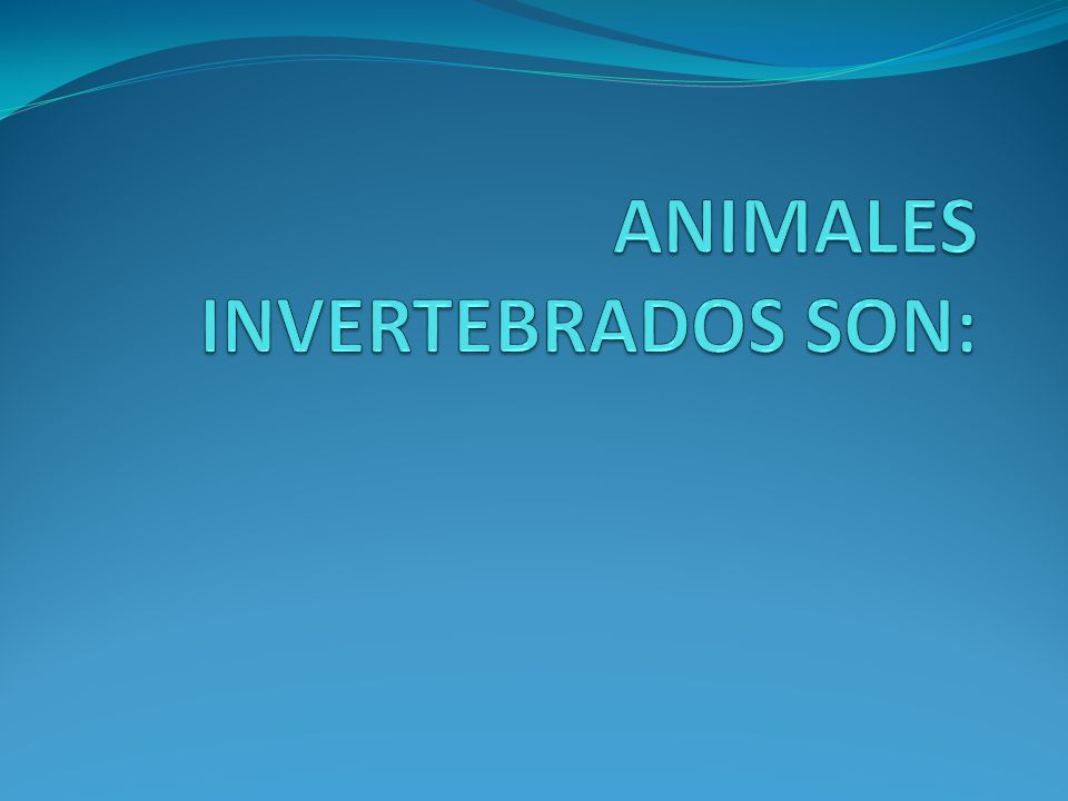 ANIMALES INVERTEBRADOS SON: