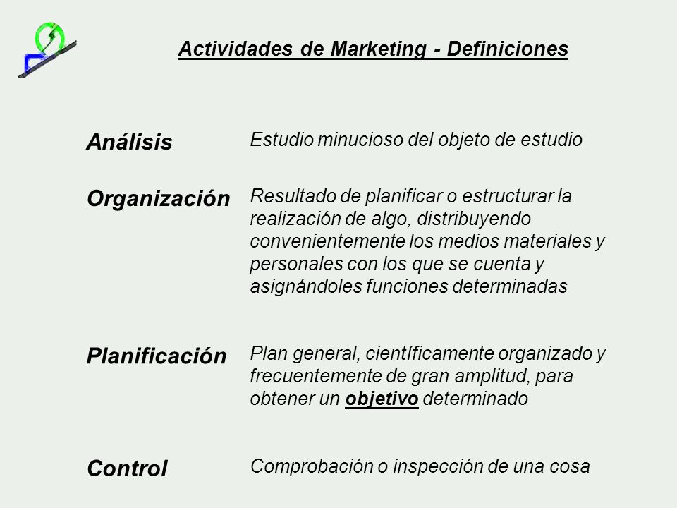 Actividades de Marketing - Definiciones