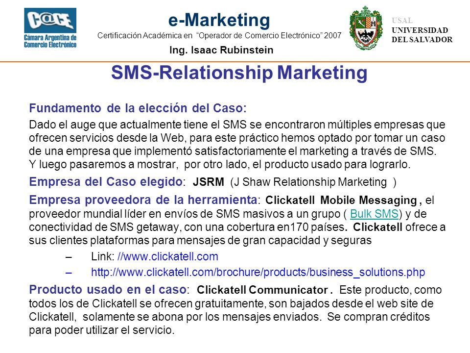 SMS-Relationship Marketing