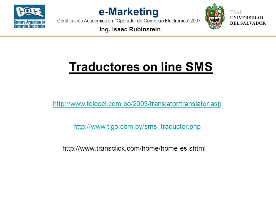 Traductores on line SMS