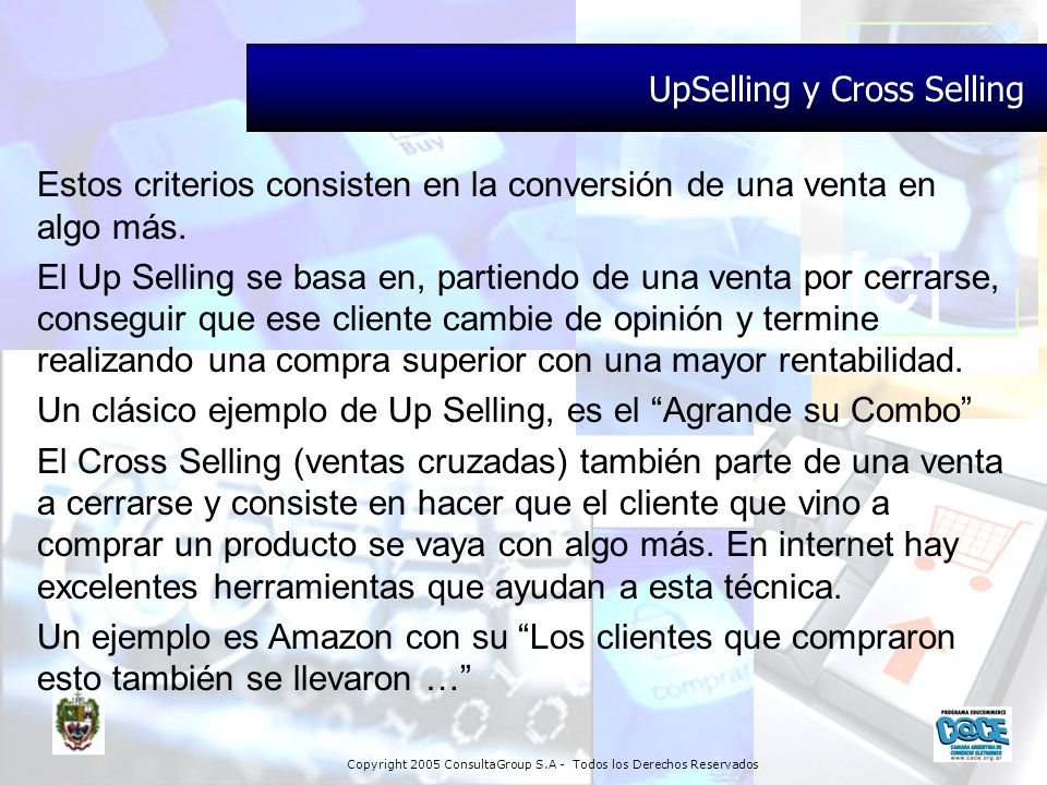 UpSelling y Cross Selling