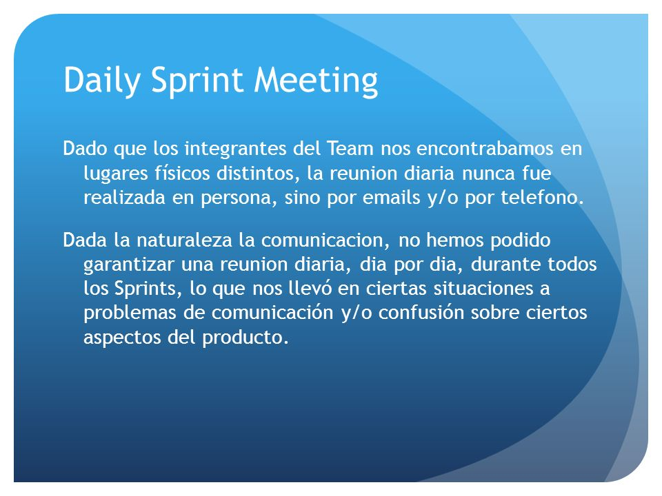 Daily Sprint Meeting