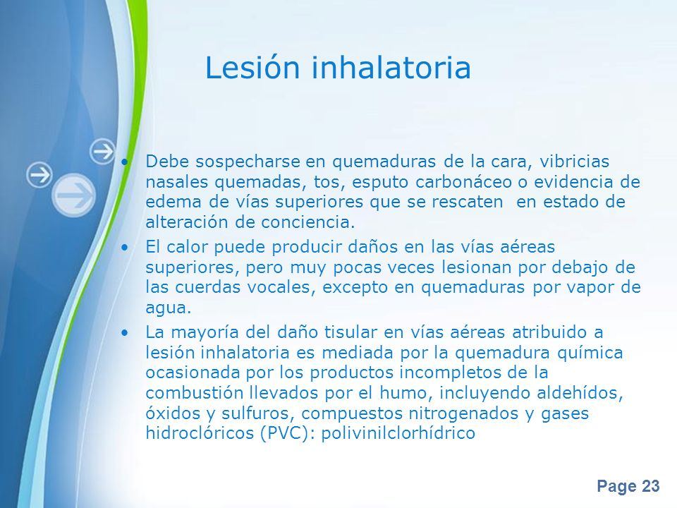Lesión inhalatoria