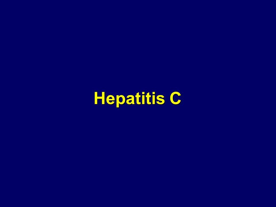 Hepatitis C