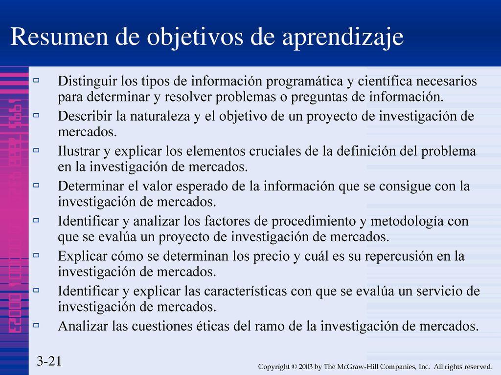 CAPÍTULO Definición del problema, objetivos de investigación y ética ...