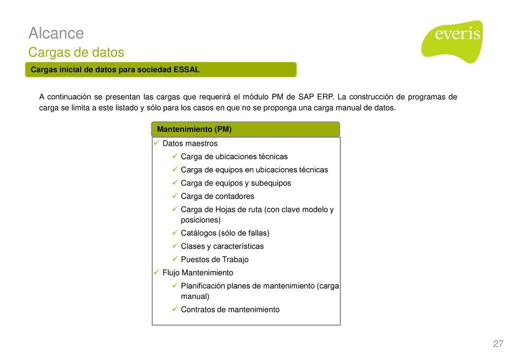 Rollout SAP PM para ESSAL – Fase III - ppt descargar