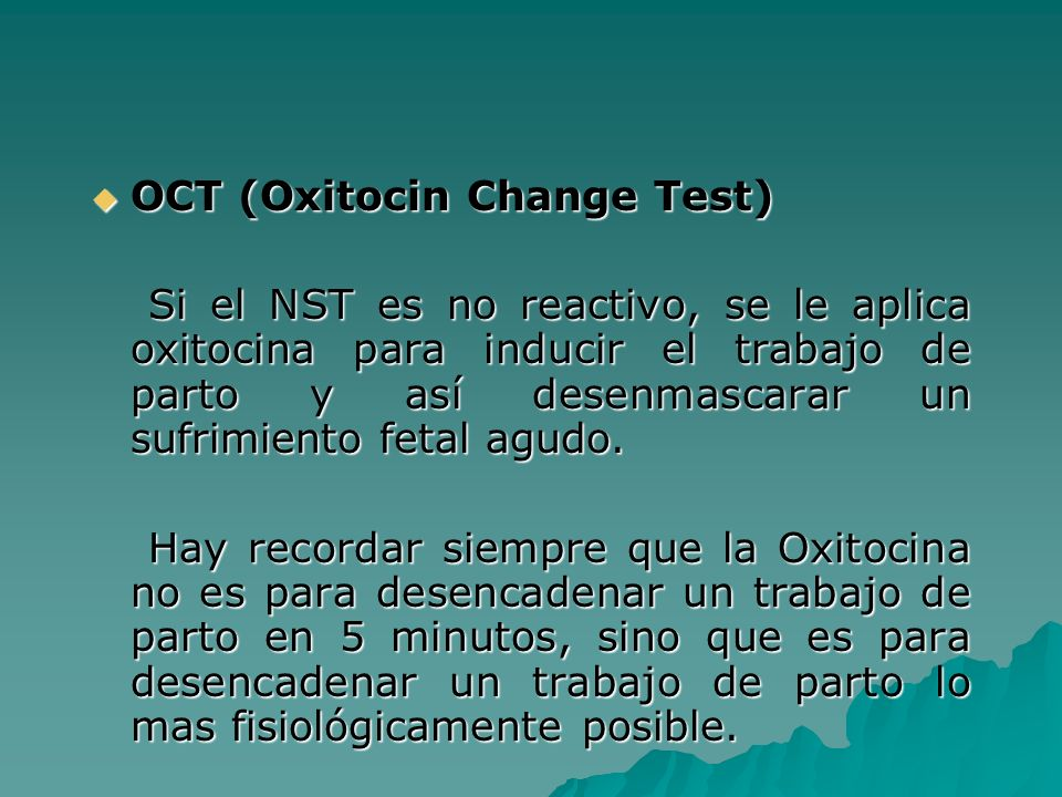 OCT (Oxitocin Change Test)