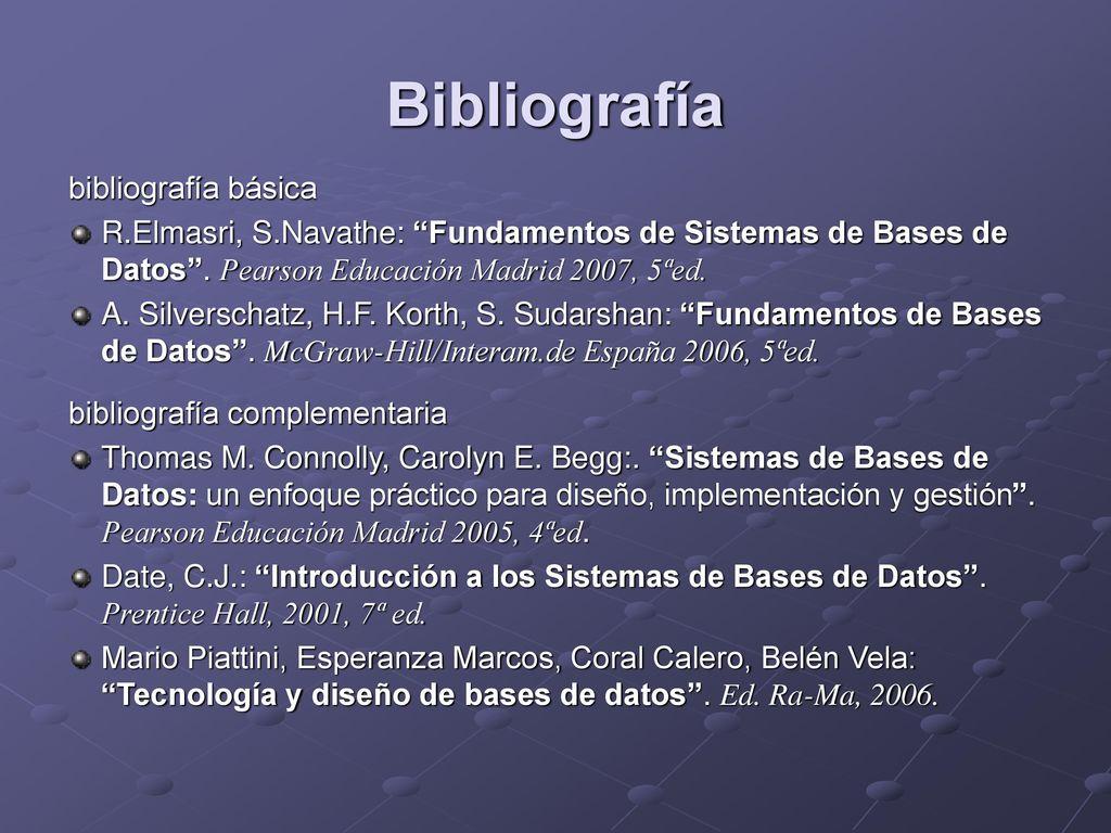 Bases de Datos (BD) Santiago Velilla Marco - ppt descargar