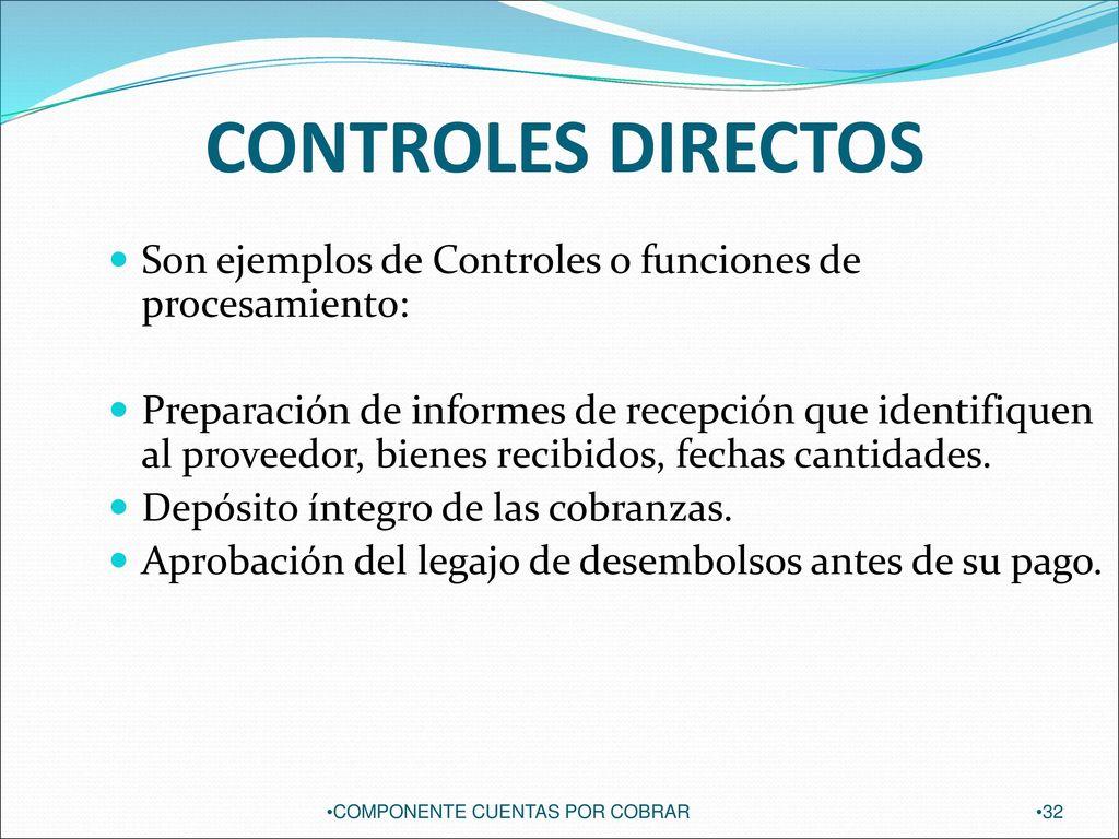 AUDITORIA DEL COMPONENTE CUENTAS POR COBRAR - ppt descargar