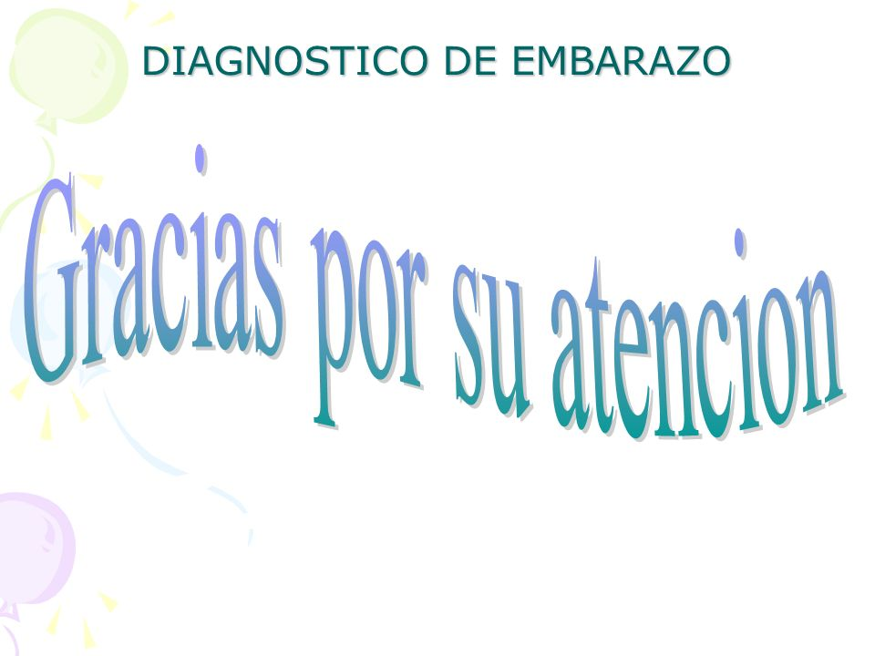 DIAGNOSTICO DE EMBARAZO