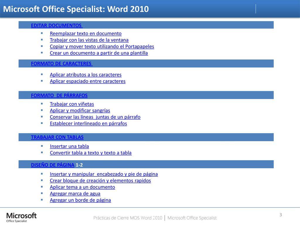 Prácticas de Cierre Microsoft Word ppt descargar