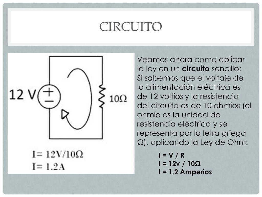 Circuito Sencillo : Intensidad de corriente eléctrica ppt descargar