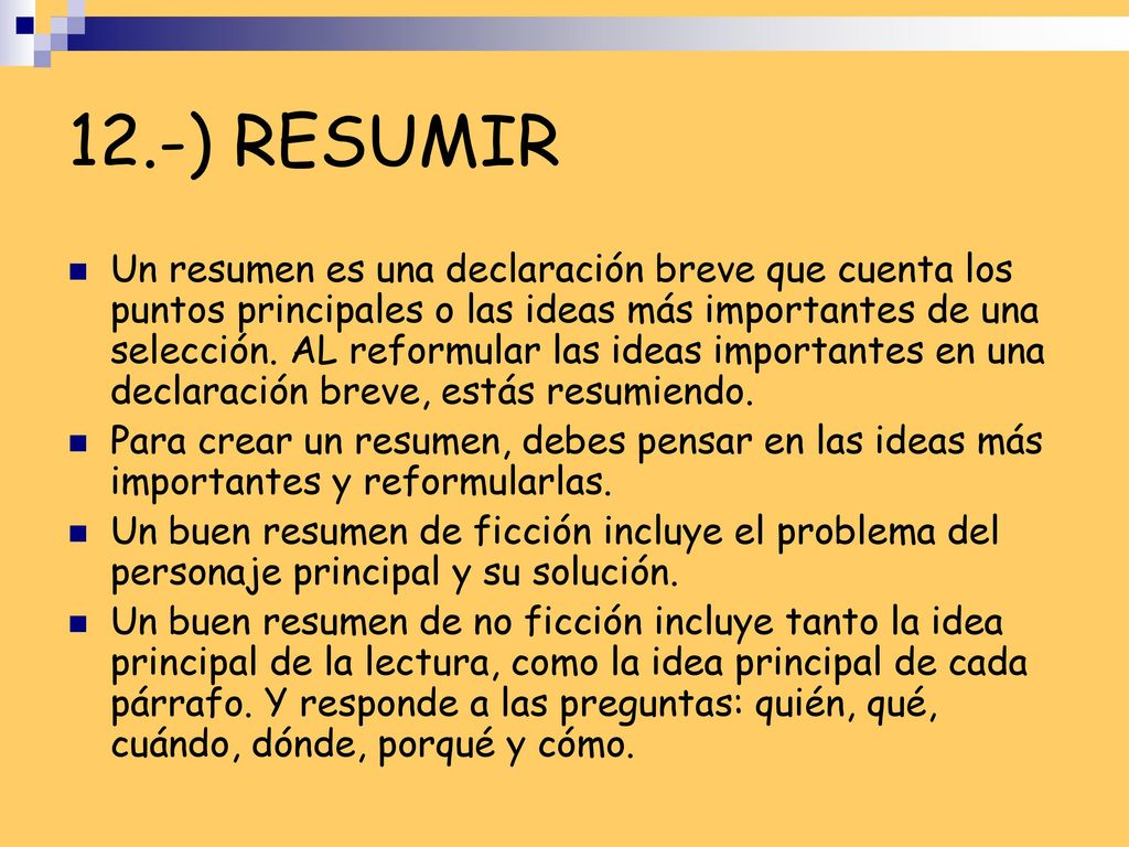 Ideas principales y secundarias - ppt video online descargar