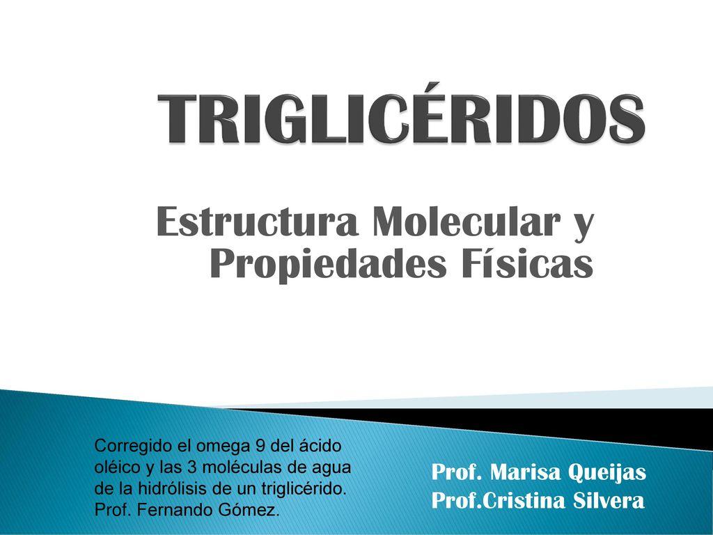 Estructura Molecular Y Propiedades Físicas Ppt Descargar