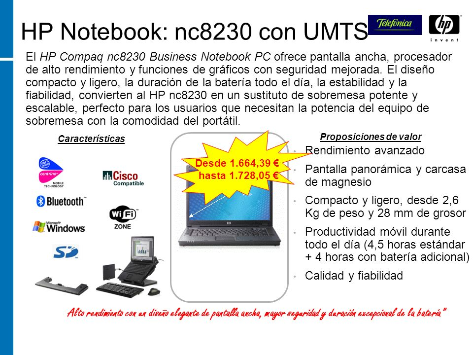 HP Notebook: nc8230 con UMTS
