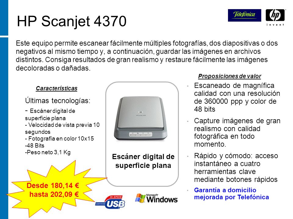Escáner digital de superficie plana
