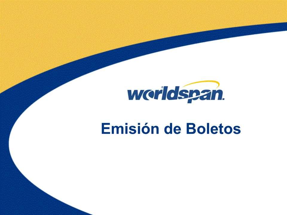 Emisión de Boletos