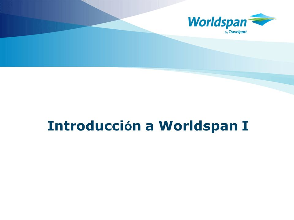 Introducción a Worldspan I