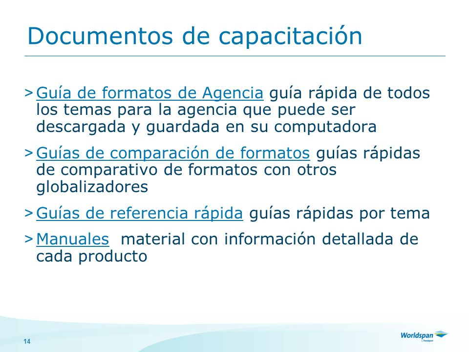 Documentos de capacitación