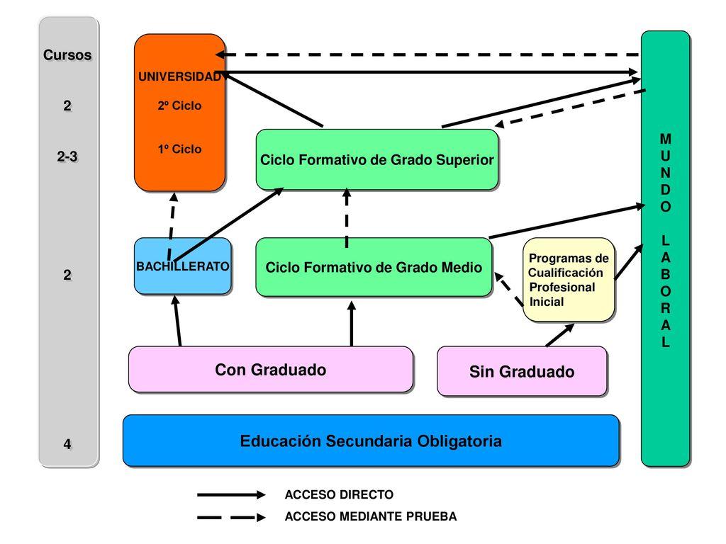 Con Graduado Sin Graduado Educación Secundaria Obligatoria - ppt ...