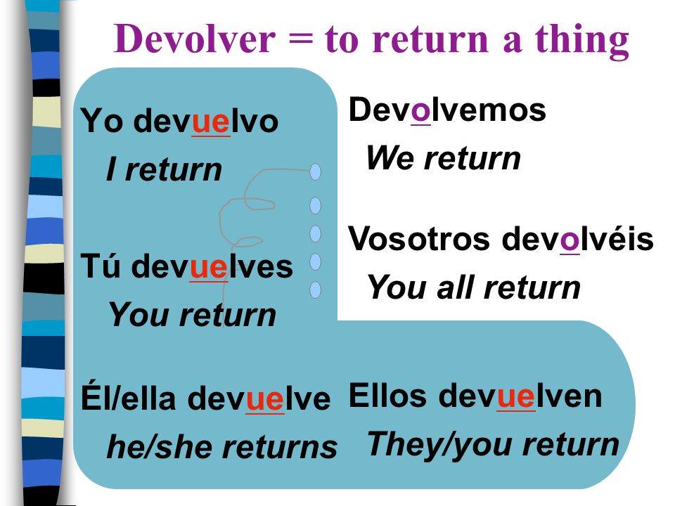 Devolver = to return a thing