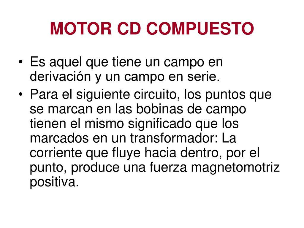 Circuito Significado : Motores de cd 9 dr. pedro bañuelos sánchez. ppt descargar