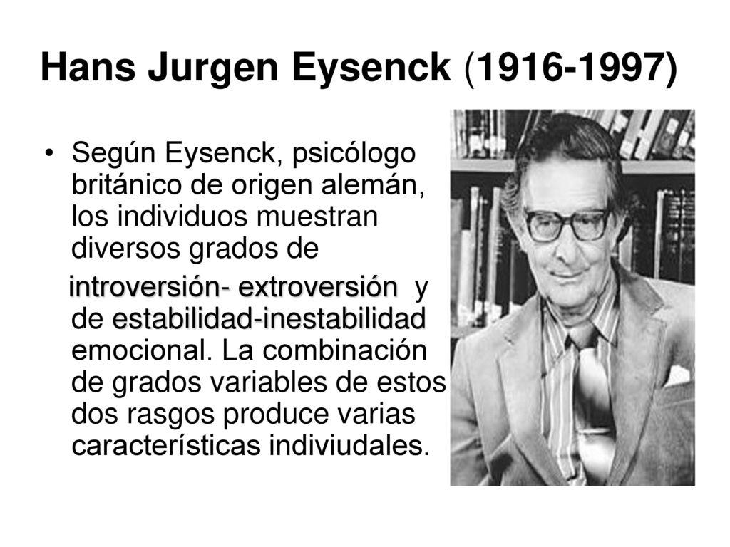 Resultado de imagen de Hans Eysenck