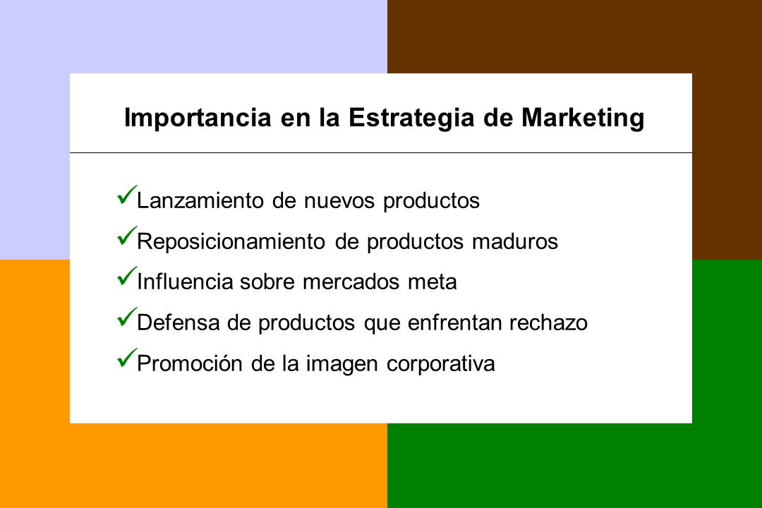 Importancia en la Estrategia de Marketing