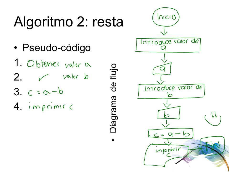Diagramas de flujo pseudo cdigo ejercicios instalacin de c ppt 8 algoritmo 2 resta pseudo cdigo 1 2 3 4 diagrama de flujo ccuart Image collections