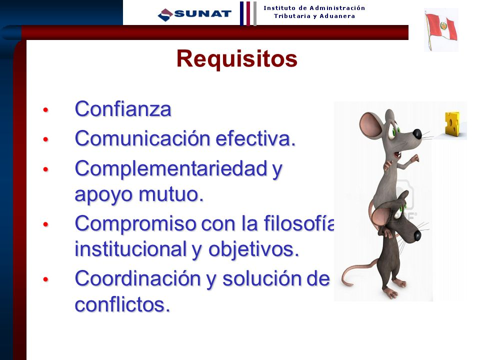 Requisitos Confianza Comunicación efectiva.