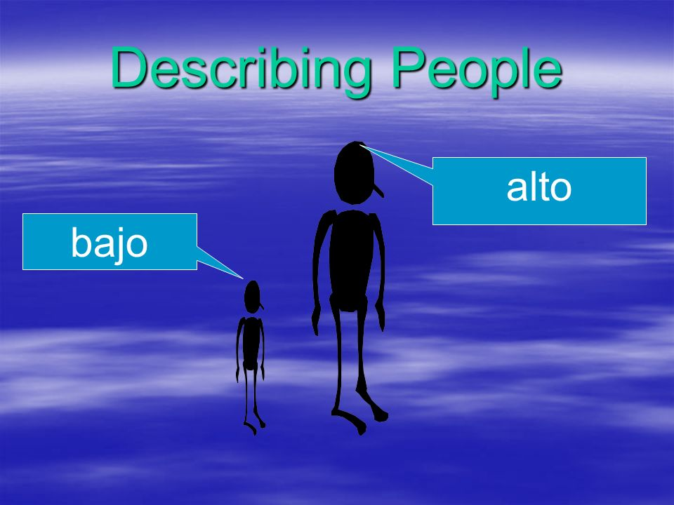 Describing People alto bajo