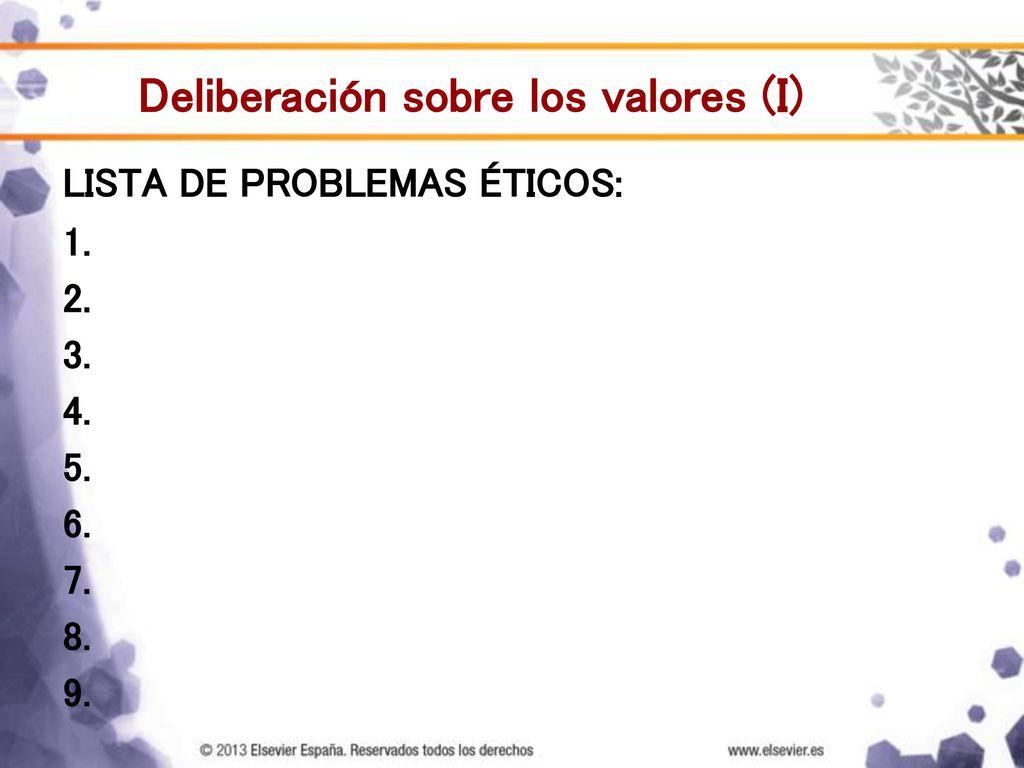 Plantilla del método deliberativo para analizar casos clínicos - ppt ...