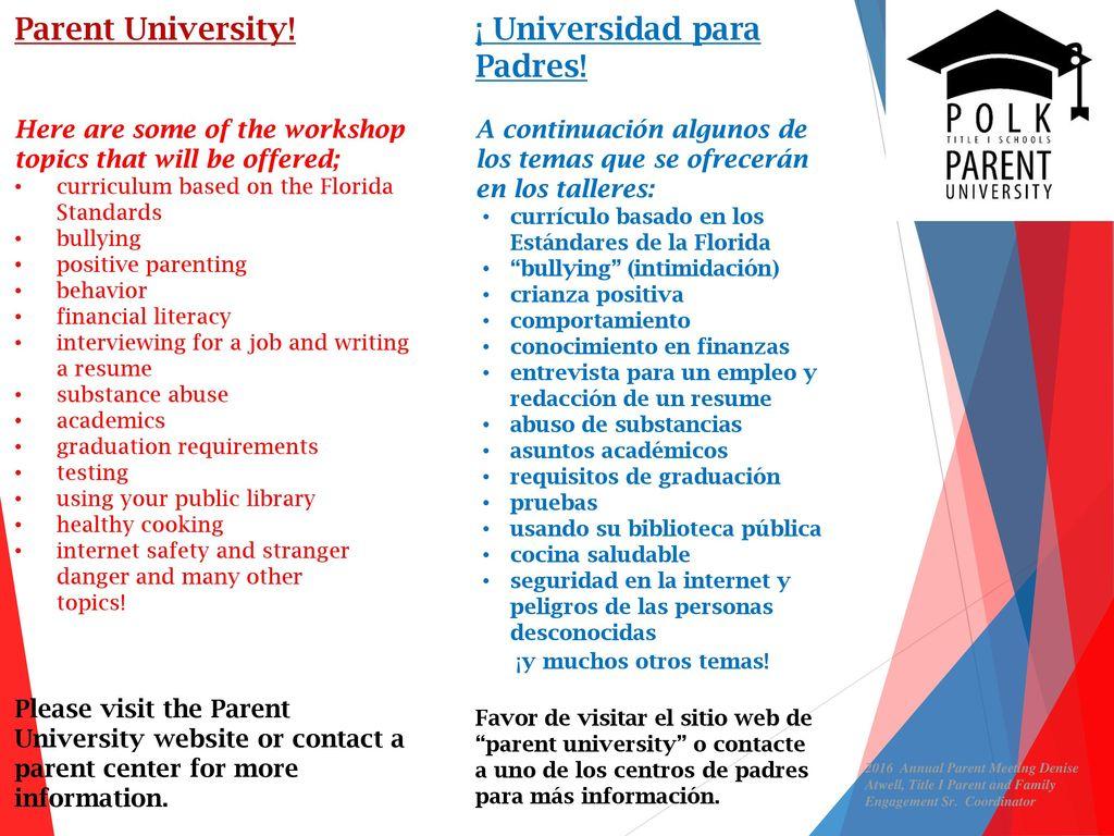 WELCOME PARENTS BIENVENIDOS PADRES - ppt descargar
