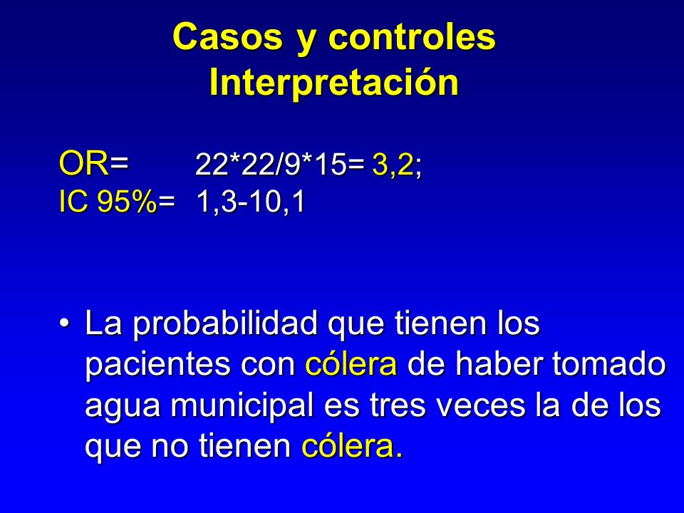 Casos y controles Interpretación