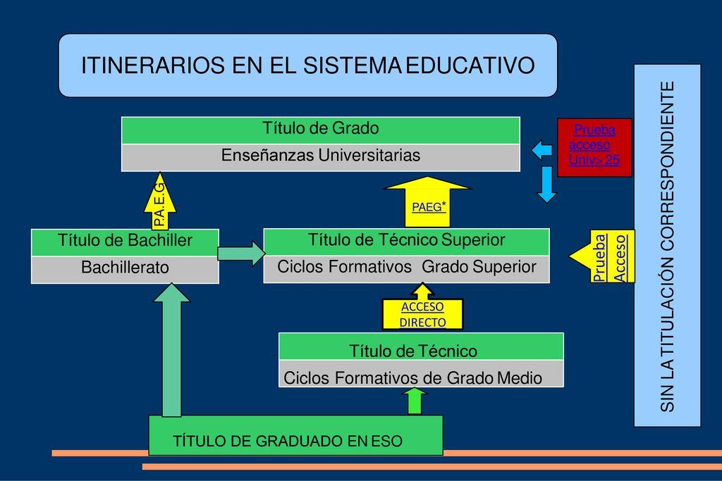 Itinerarios En El Sistema Educativo Ppt Descargar