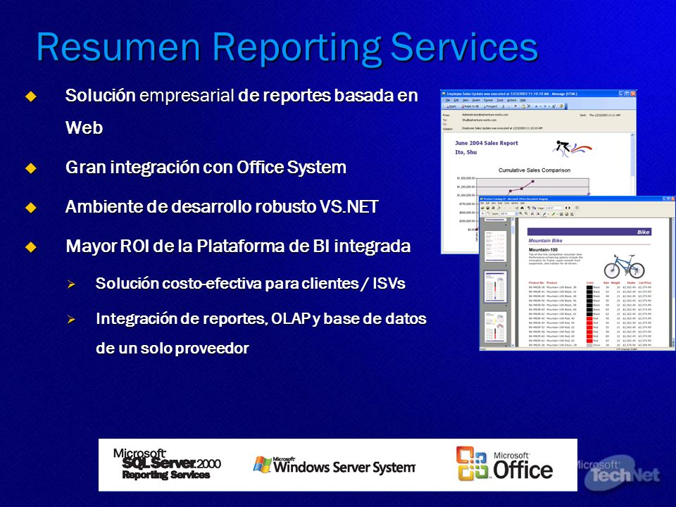 Resumen Reporting Services