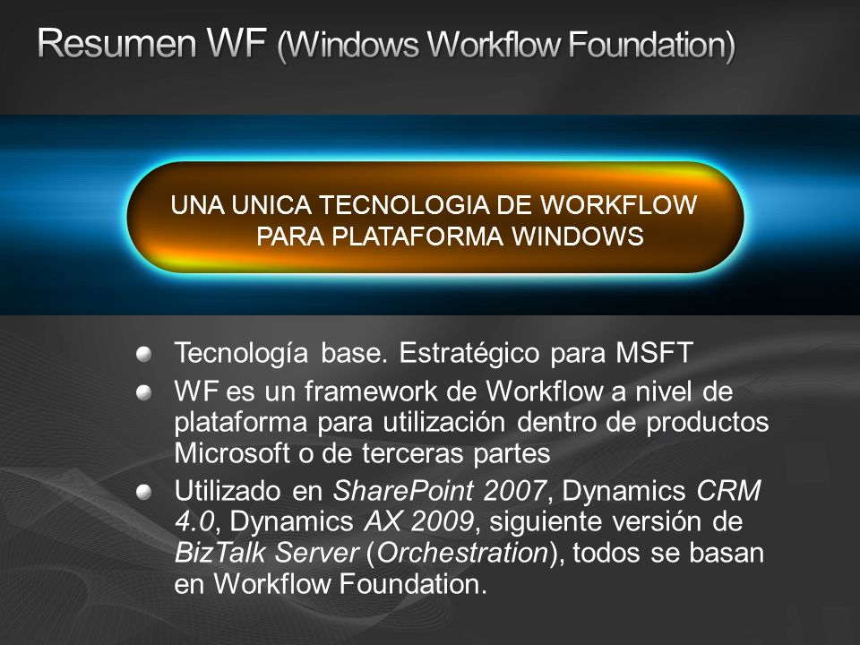Resumen WF (Windows Workflow Foundation)