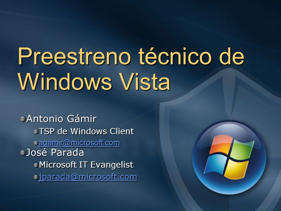 Preestreno técnico de Windows Vista