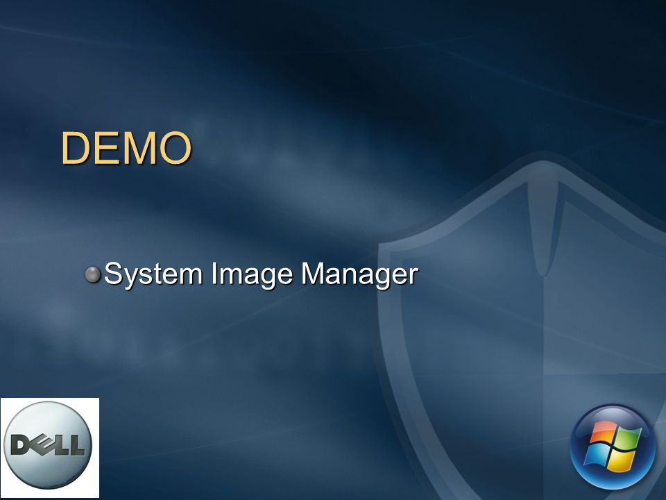 DEMO System Image Manager