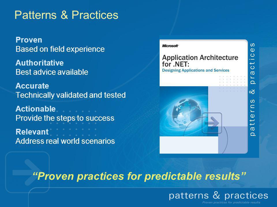 Proven practices for predictable results