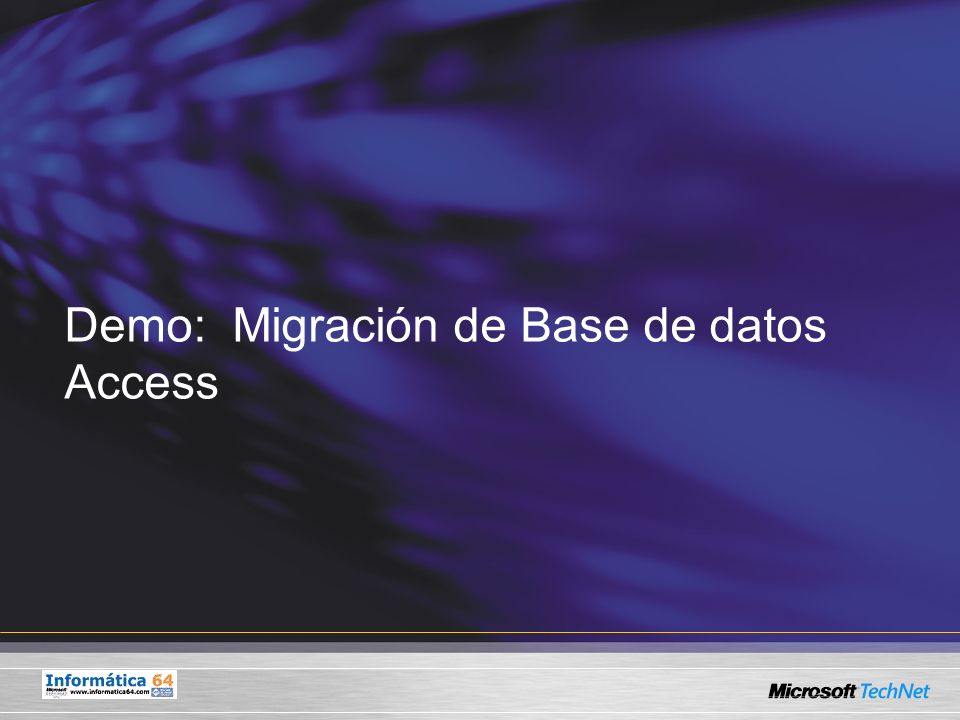 Demo: Migración de Base de datos Access