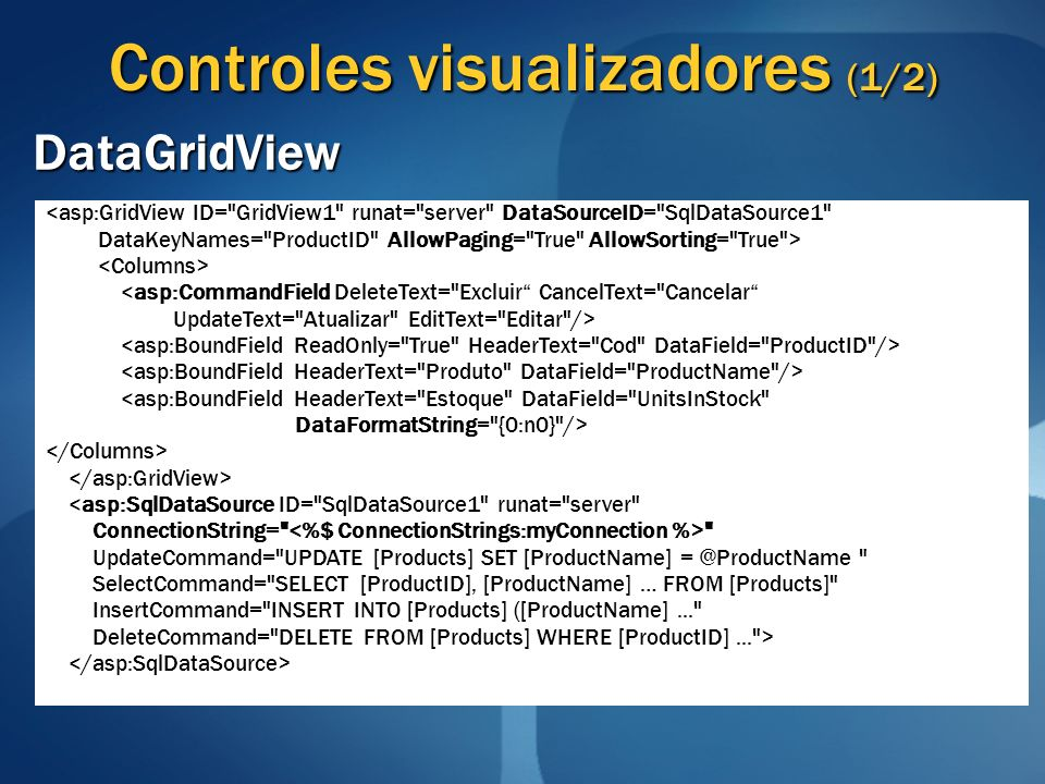 Controles visualizadores (1/2)