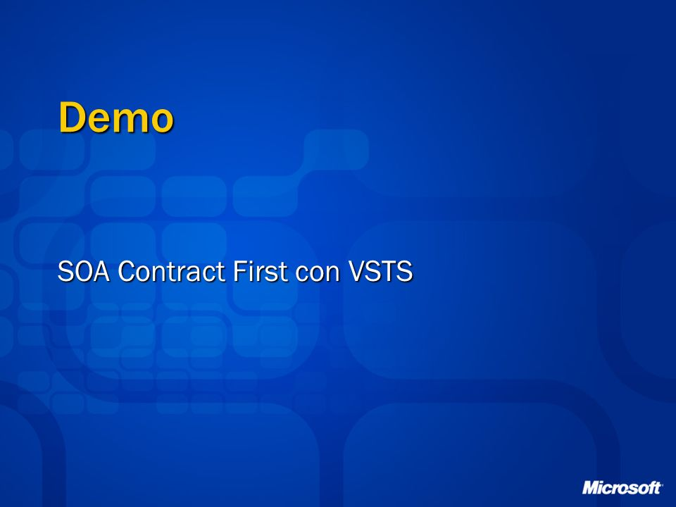 SOA Contract First con VSTS
