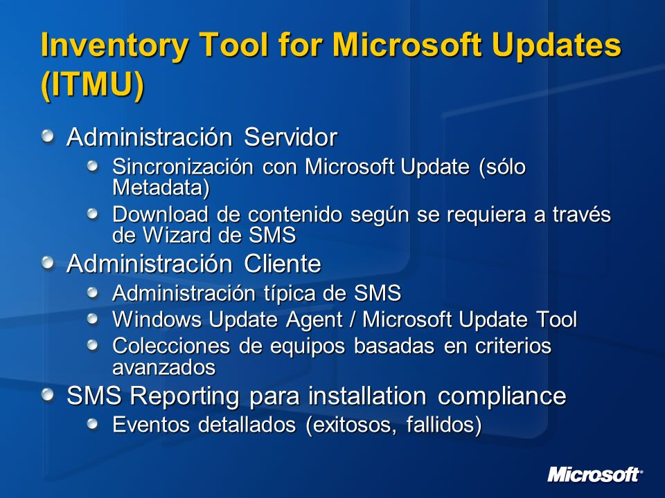 Inventory Tool for Microsoft Updates (ITMU)