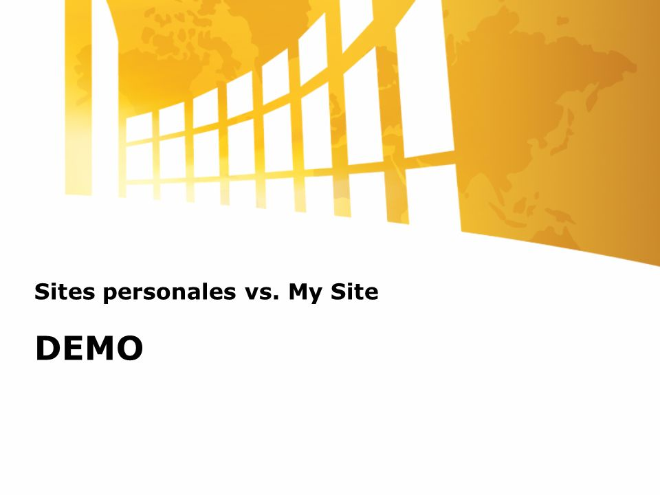 Sites personales vs. My Site DEMO