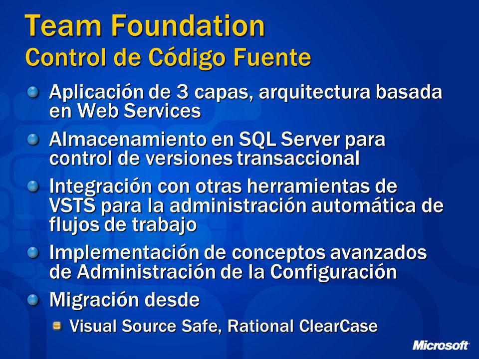 Team Foundation Control de Código Fuente