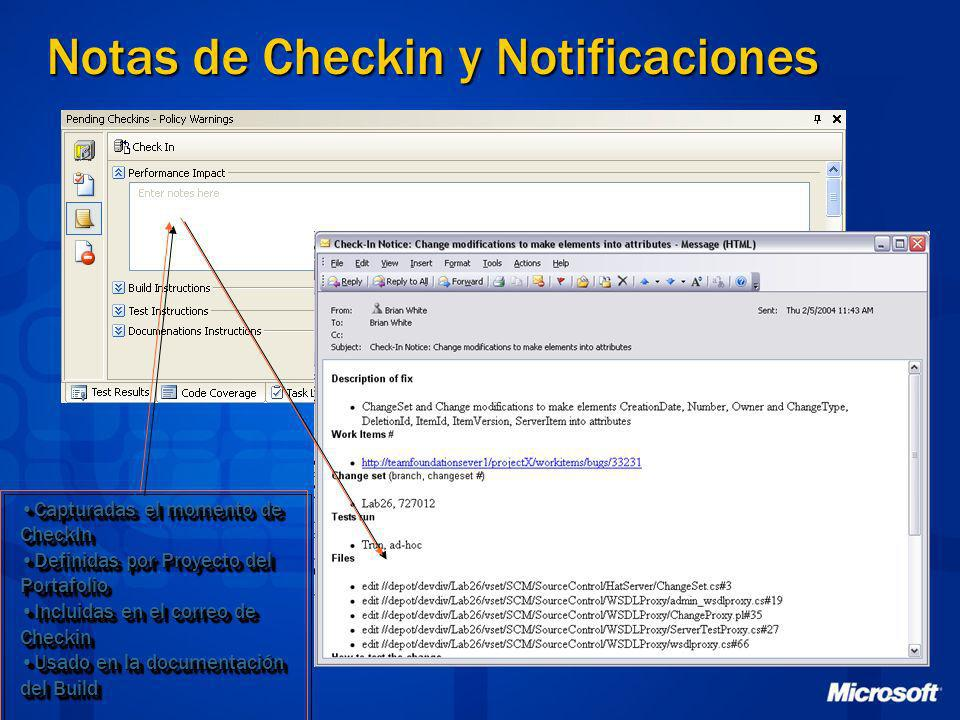 Notas de Checkin y Notificaciones