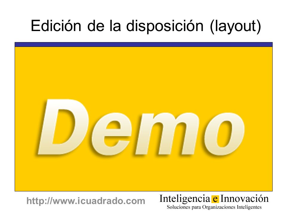 Edición de la disposición (layout)